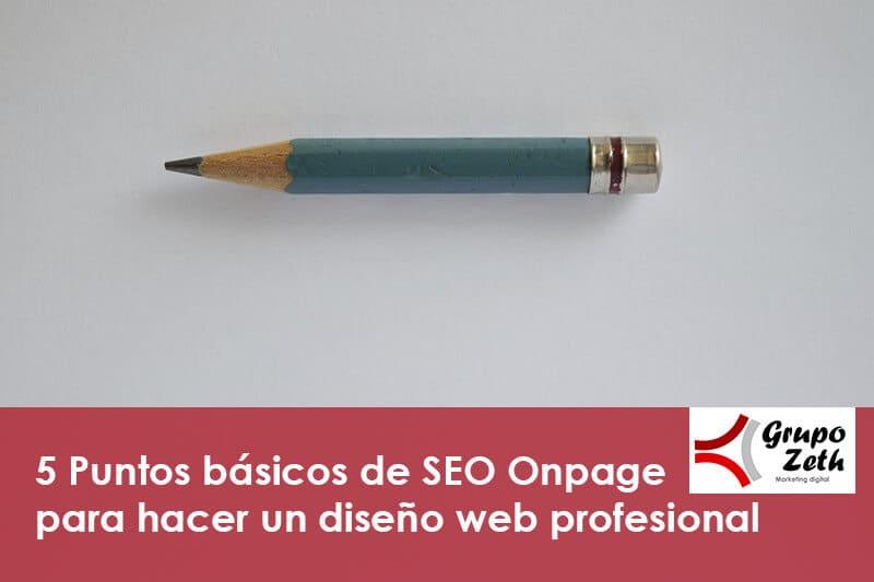Diseño web - SEO Onpage